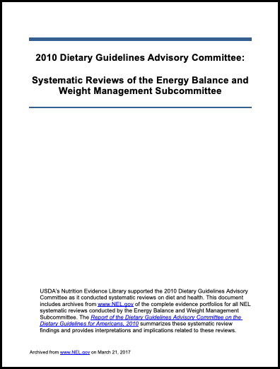 2010 DGAC Energy Balance and Weight Management
