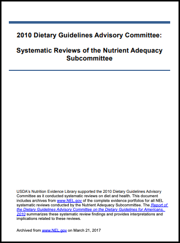 2010 DGAC Nutrient Adequacy Subcommittee