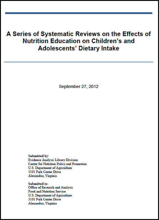 nutrition education methodology