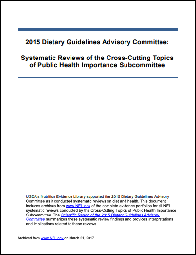 2015 Cross cutting topics of Public Health Importance