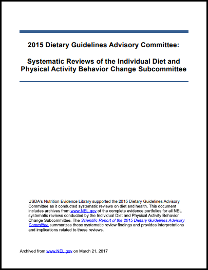 2015 Individual Diet and Physical Activity Behavior Change
