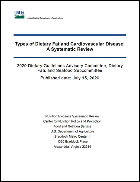 Cover of relationship between types of dietary fat consumed and risk of cardiovascular disease Report